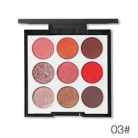 Палетка теней с шиммером Novo 9 Colors Eyeshadow Palette Grapefruit and Chocolate 03, фото 1