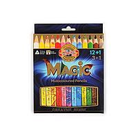 Карандаши цветные MAGIC, 12 цветов +блендер