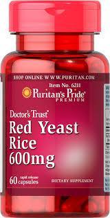 Красный дрожжевой рис Puritan's Pride Red Yeast Rice 600 mg 60 capsules
