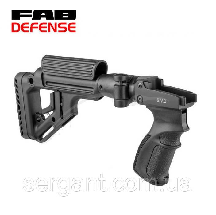 Складной приклад Fab Defense UAS SVD для СВД и Тигр