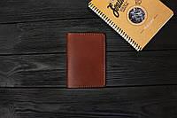 Обложка для паспорта ручной работы из кожи Краст VOILE pc1-kcog-lbrn