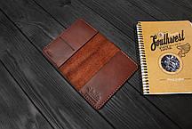 Обложка для паспорта ручной работы из кожи Краст VOILE pc1-kcog-lbrn, фото 2