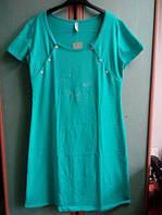 Ночная сорочка для кормления Роксана XL бирюзовый, фото 1