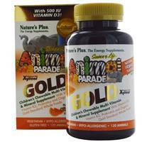 Мультивитамины для детей, в форме животных плюс Д3, Nature's Plus, апельсин, 120 таблеток