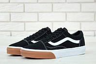 Кеды Vans Old Skool Black/White gum bumper