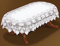 Жаккардовая скатерть 250х150 на большой овальный стол