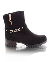 Женские ботинки с цепочкой 16112 -  обувь от поставщика демисезон RE- Oleksy