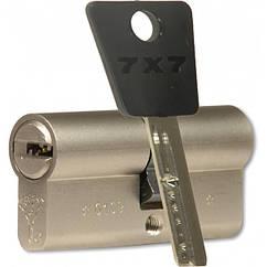 MUL-T-LOCK Цилиндр 7x7 100 (60x40)NI Кл-кл Ник