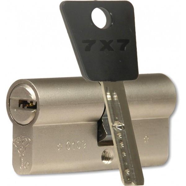 MUL-T-LOCK Цилиндр 7x7 100 (55x45)NI Кл-кл Ник