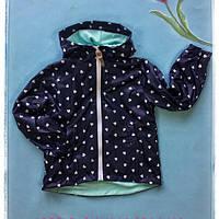 Куртка ветровка для девочки Зайка