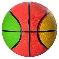 Мяч баскетбольный VA-0017 (30шт) размер 7, резина, 450г, 8панелей, сетка, в кульке,