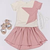 Детский комплект футболка и юбка для девочки Звезда