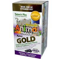 Мультивитамины для детей, в форме животных плюс Д3, Nature's Plus, виноград, 120 таблеток