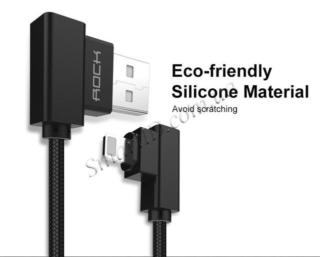Rock Dual-end L-shape Data Cable Lightning