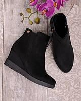Женские ботинки на танкетке 17678 -  брендовая обувь осенние RE- Eva Minge
