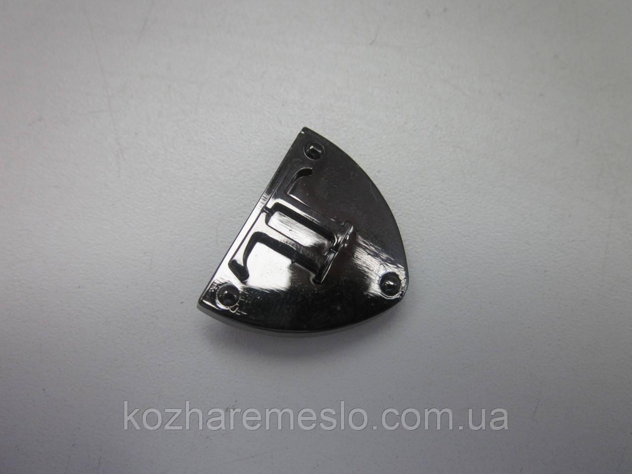Окончание для ремня 25 мм тёмный никель