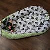 Кокон-гнездышко + ортопедическая подушка двусторонняя