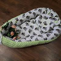 Кокон-гнездышко + ортопедическая подушка двусторонняя, фото 1