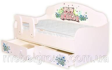Кровать диванчик Мишки и васильки
