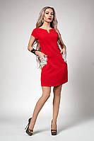 Короткое женское платье красного цвета, фото 1