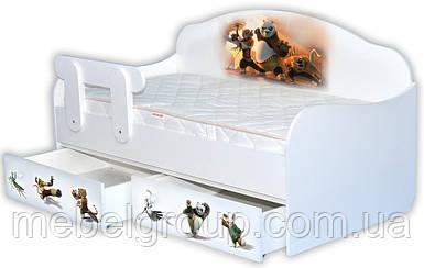 Кровать диванчик Панда Кунг-фу
