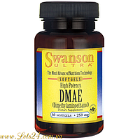 DMAE 250mg - мощный стимулятор, энергетик, антиоксидант (замедляет старение, капсулы)