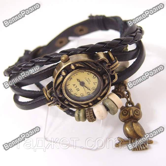 Женские наручные часы браслет черного цвета. Женские часы