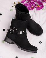 Ботинки с буквами на ремешке 18141 - Lovi красивая обувь деми RE- Sayota