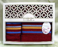 Комплект махровых полотенец - Cestepe Vip Collection - баня + для лица - Разные цвета