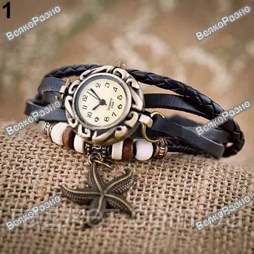 Женские наручные часы браслет черного цвета.