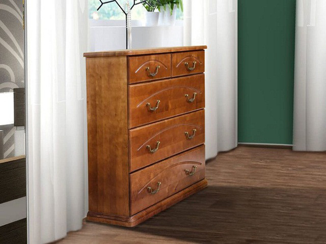 Комод з натурального дерева в спальню/вітальню Ассоль Єлісєєвські меблі