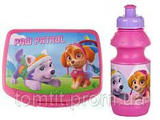 """Набор """"Paw Patrol (Щенячий патруль)"""". Ланч бокс (ланчбокс) + бутылка, цвет розовый"""