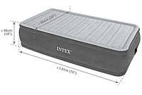 Велюр кровать 64412 со встроенным электронасосом 220 В (191 х 99 х 46 см) в сумке усиленной констр и коробке