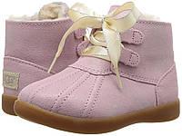 Ботиночки Ugg на девочку Розовый металлик, 1-6 лет