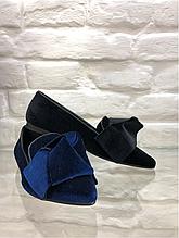 Балетки з гострим носком оксамит Rinascimento Італія