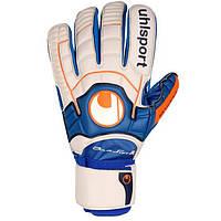Вратарские перчатки Uhlsport Ergonomic Aquasoft Rollfinger (10 00231 02)