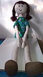 Мягкая игрушка ручной работы Длинноногая Кукла, фото 5
