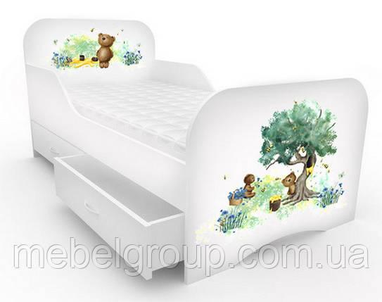 Ліжечко стандарт з цільним бортиком Ведмедик, фото 2