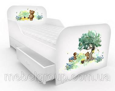 Кроватка стандарт с цельным бортиком Мишка