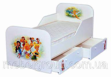 Кроватка стандарт с цельным бортиком Фея Динь-Динь