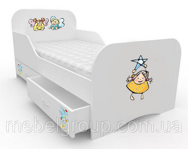 Кроватка стандарт с цельным бортиком Малыши