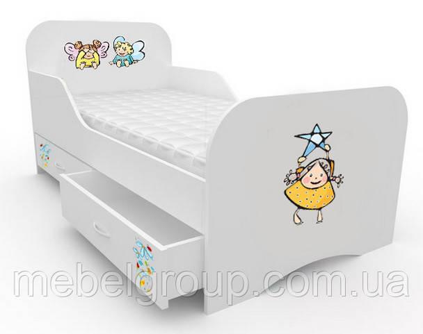 Ліжечко стандарт з цільним бортиком Малюки