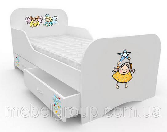 Ліжечко стандарт з цільним бортиком Малюки, фото 2