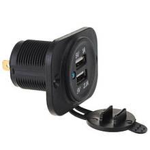 Встраиваемый адаптер 2x USB 5Вв прикуриватель авто, зарядное