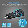 Автомобильное зарядное устройство Promate Robust-QC3 30Вт USB QC3.0 + USB 2.4A Black, фото 5