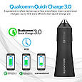 Автомобильное зарядное устройство Promate Robust-QC3 30Вт USB QC3.0 + USB 2.4A Black, фото 2