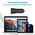 Автомобильное зарядное устройство Promate Robust-QC3 30Вт USB QC3.0 + USB 2.4A Black, фото 7