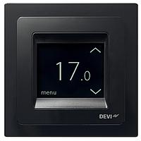 Терморегулятор для теплого пола сенсорный интеллектуальный DEVIregТМ Touch  Black (черный)