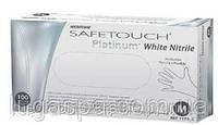 Перчатки нитриловые текстурированные неопудренные SafeTouch® Platinum White