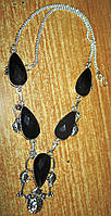"""Шикарное серебряное колье с  ониксом """"Кизил""""  ,  от студии LadyStyle.Biz, фото 1"""